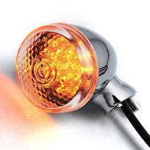 1 Pair Bullet Motorcycle Amber LED Turn Signal Indicator Light Blinker Lamp for Harley Cruiser Chopper Bobber Models Waterproof(China)