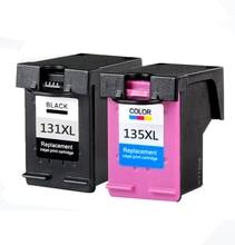2Pk Для HP 131 135 Картриджи для HP Photosmart C3100 C3183 C3150 C3180 PSC 1500 1510 1513 1600 1610 2300 2600 2610 Принтер