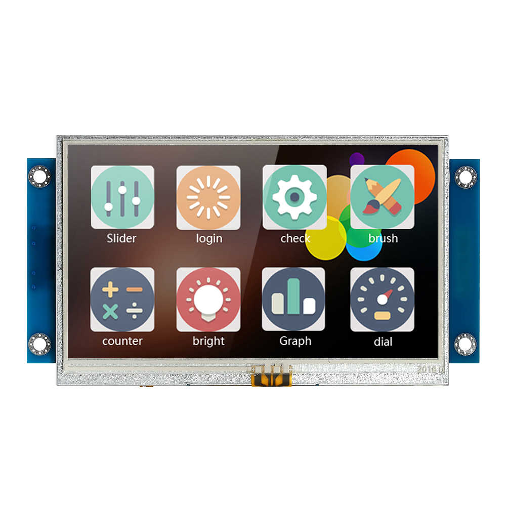 "4.3"" Serial Port Color LCD Module Enhanced HMI Intelligent Smart USART Serial Touch TFT LCD Module Display Panel for Arduino Kit"