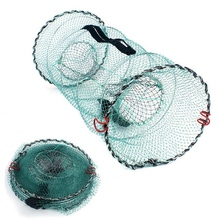 Складная Рыболовная Ловушка | рыболовная сеть | Складная литая сетка для посадки приманки для крабов, креветок, гольян, раков, сомов