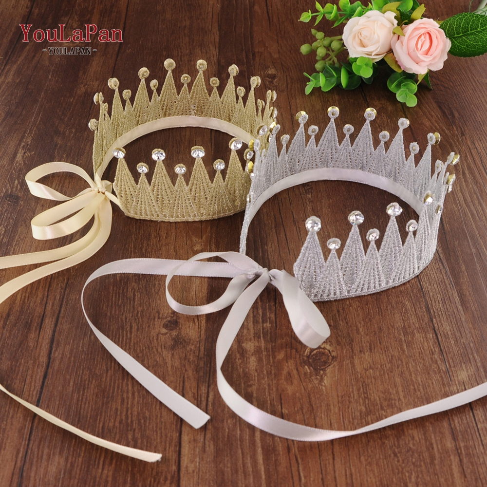 YouLaPan HP205 Lace Hairdress Wedding Hair Crown Bridal Hair Accessories Bride Lace Crown Wedding Tiara Bridal Hair Tiara