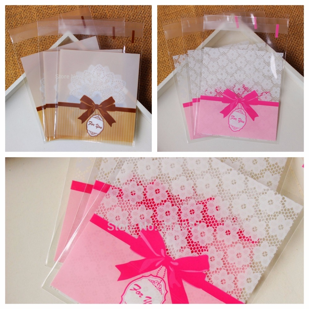 Pink roses thank you Self Sealing Wrapping Bags,Cookies,Snacks,Party ...