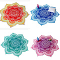 Glorious Lotus Flower Shape Indian Mandala Tapestry Wall Hanging Beach Throw Towel Hippie Bedspread Gypsy Yoga Mat Blanket 150cm