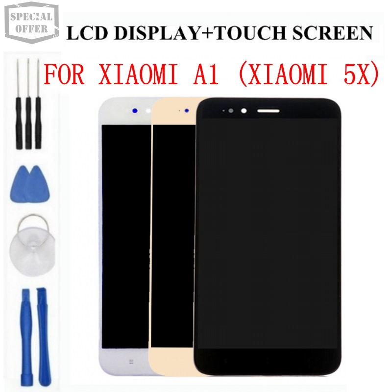 display for XiaoMi Mi 5x A1 LCD Display Touch Screen Screen  Digitizer Assembly Replacement Tools Adhesive For XiaoMi Mi 5x  Phonedisplay touch screenscreen touchxiaomi display