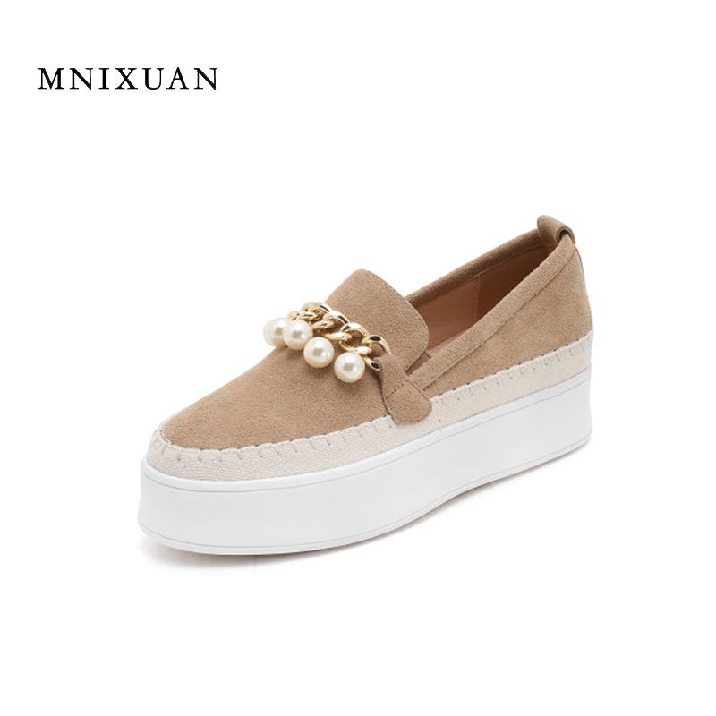 Ladies flat shoes autumn fur women casual loafers 2017 round toe genuine leather black china flat platform female solid shoes new arrival vintage autumn women flats shoes 3 colors genuine leather casual shoes women round toe flat with women s loafers