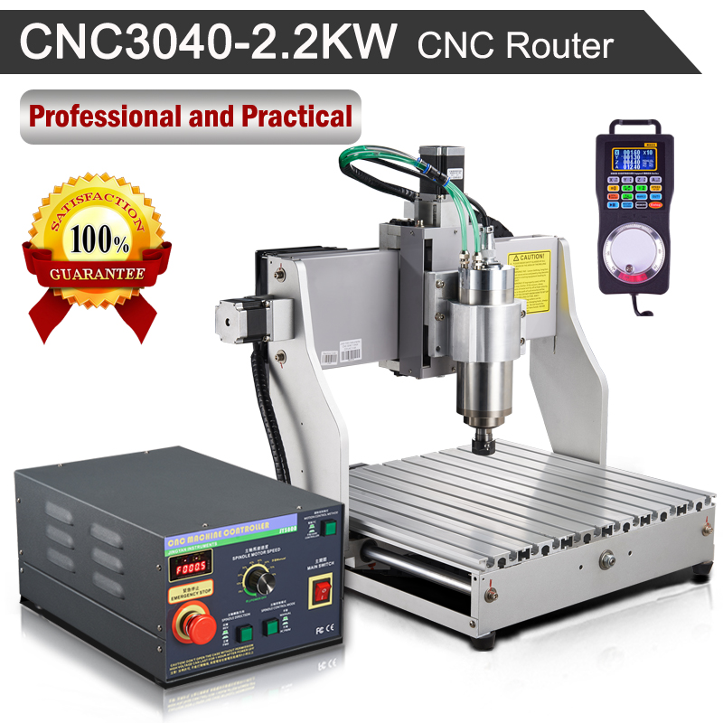 CNC Router CNC3040 2.2KW 110V/220V Engraving Milling Machine eur free tax cnc 6040z frame of engraving and milling machine for diy cnc router