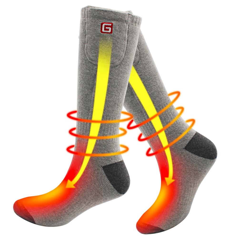 3d118e50fd16 Winter Unisex Heated Socks with Electric Rechargeable Battery Kit for  Chronically Cold Feet Thermal Warm Knitting