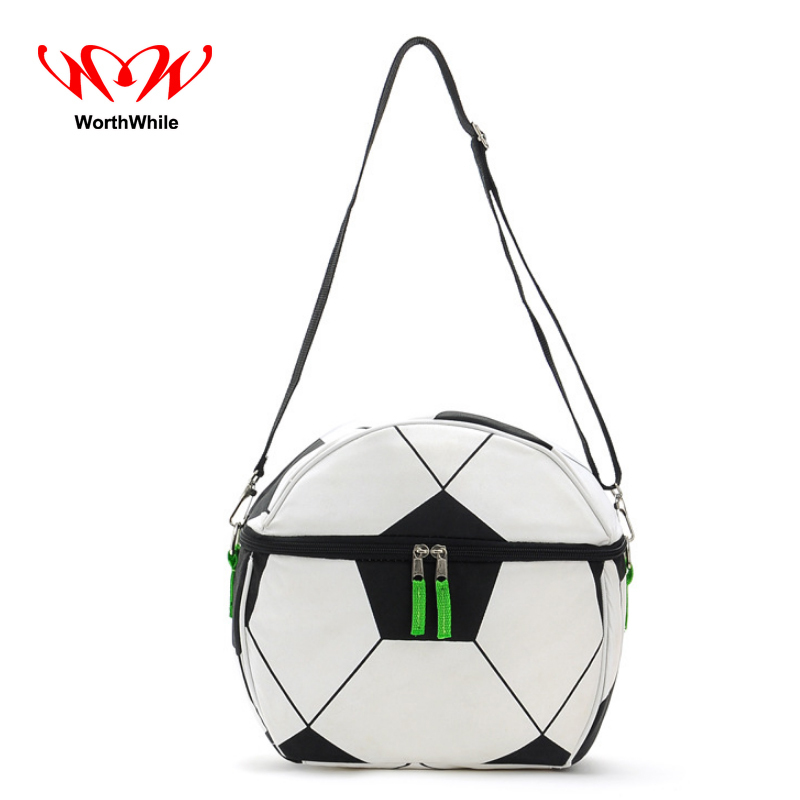 WorthWhile Camping Picnic Bag Soccer Football Shape Thermal Basket Lunch Cooler Box Outdoor Hiking Kid Crossbody Fresh Storage