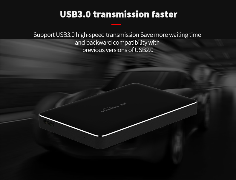 320GB500GB750G1TB2TB BS-H8 2.5USB 3.0 SATA HDD Box HDD Hard Disk Drive External HDD Enclosure Case(Hard disk included) (3)
