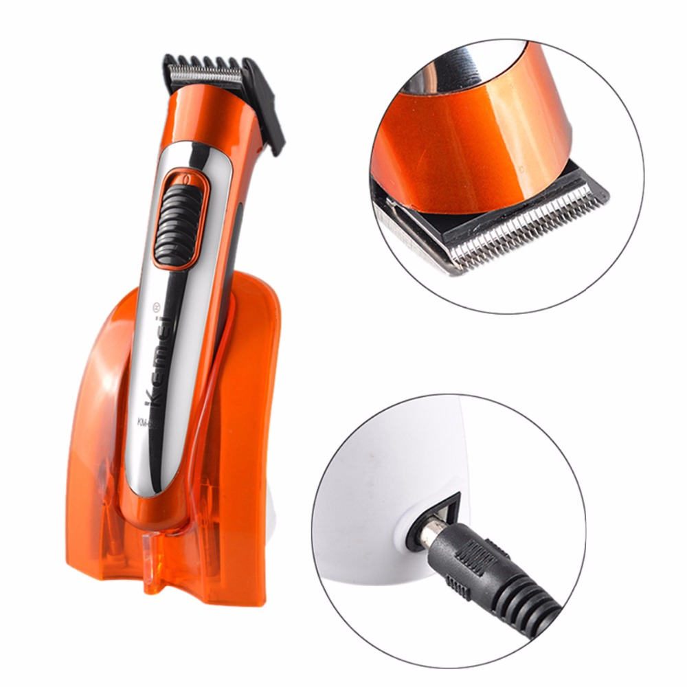 Kemei KM-607A Haircut Hair Styling Tools Wireless Electric Hair Clipper Cutting Rechargeable Hair Trimmer Shaver for Men Child kemei hot sale rechargeable washable electric hair trimmer clipper tools haircut hair cutting machine barber child baby adult