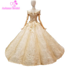 Rose Gold Evening Dress Bling Bling Sequins Bridal Ball Gown 2018 Gold  Bridal Formal Gowns Arabic Style Real e7ddc753638d