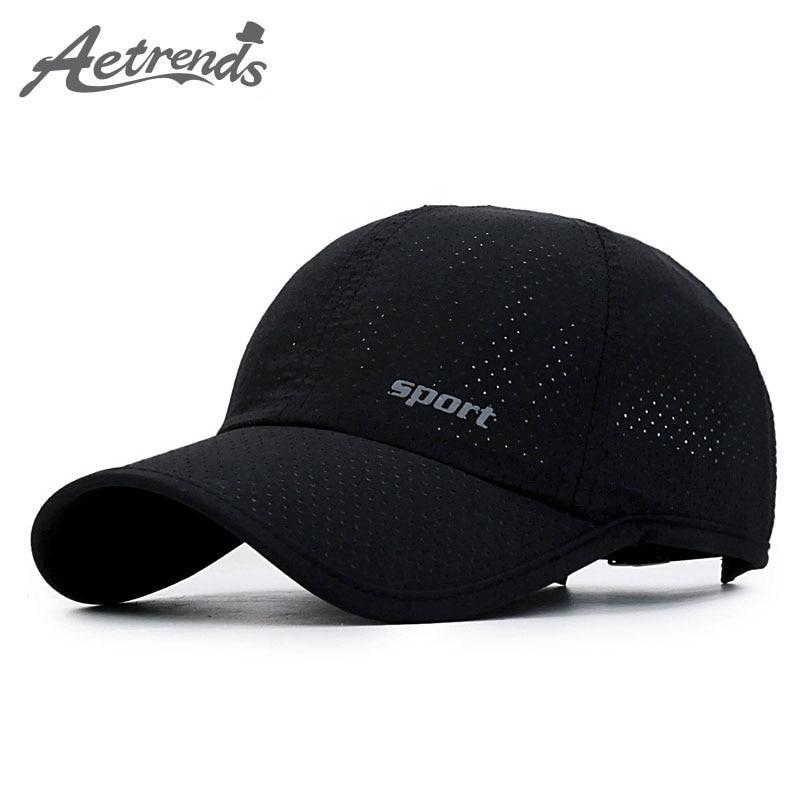[AETRENDS] Mesh Hat Summer Baseball Cap Russia Sports Caps Men Black Cappello Baseball Mens Hats Women Cap Outdoor Z-5231