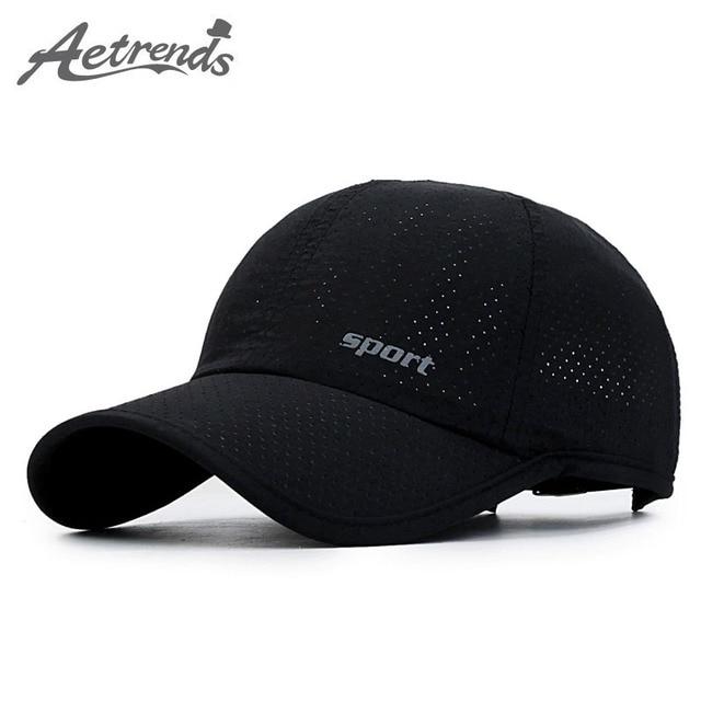 bbc0a378331  AETRENDS  Mesh Hat Summer Baseball Cap Russia Sports Caps Men Black  Cappello Baseball Mens