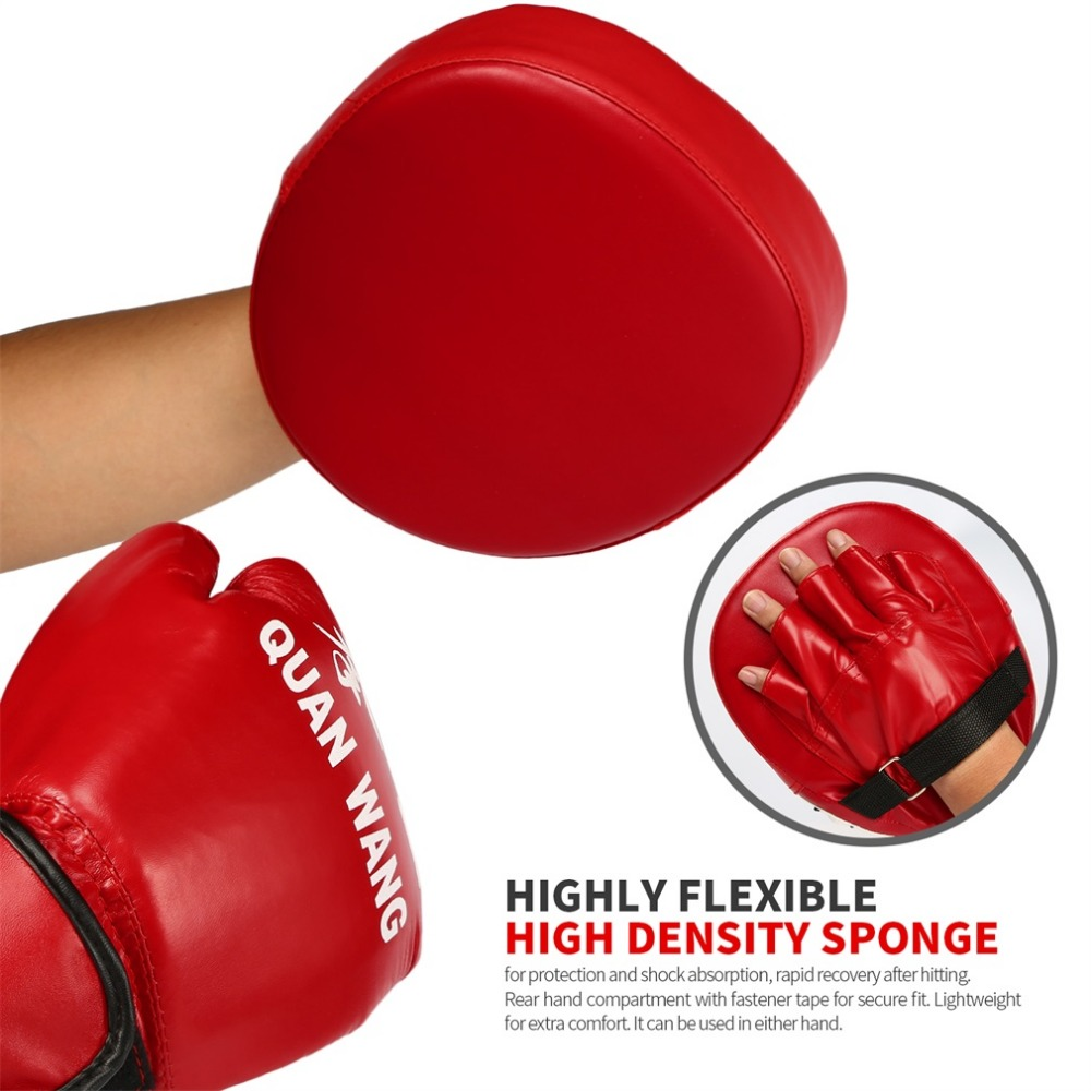 Sanda Boxing Gloves Pads Hand Target Pad Muay Thai Kick Focus Punch Pad Karate Taekwondo Mitt MMA Foam Boxer Training Hot Sale