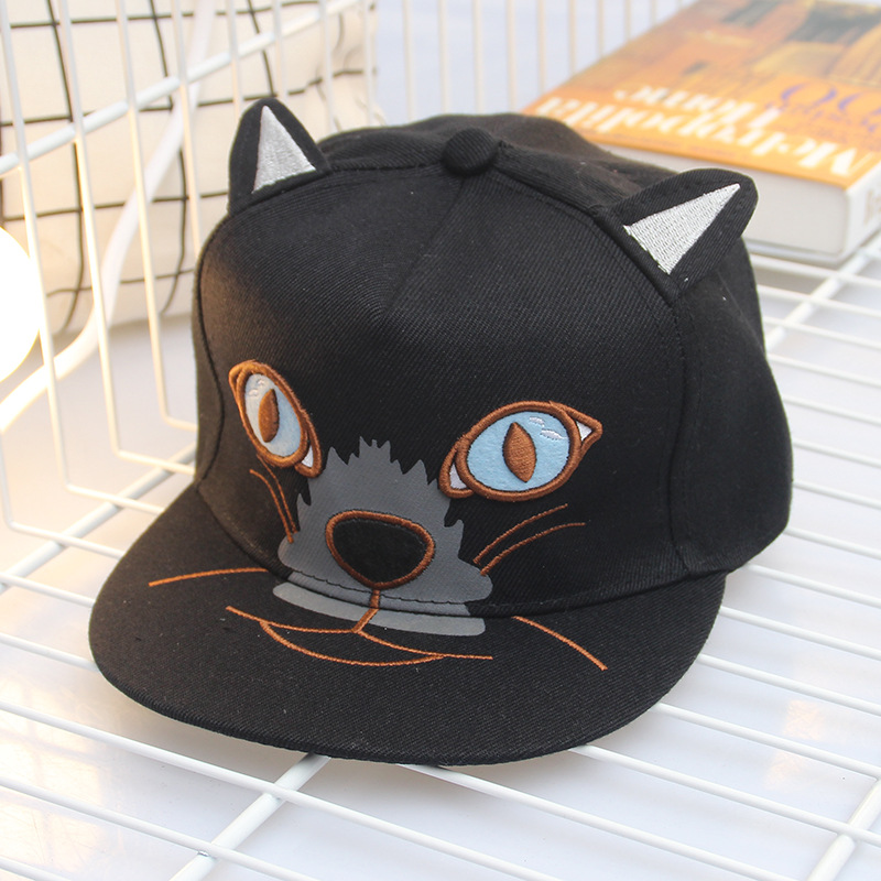 cat ear baseball cap ebay black lovely hip hop hats cartoon font