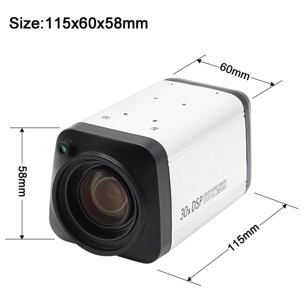 2.0MP All in one camera 30X 3-90mm WDR Box Camera AHD Auto IRIS DSP 30X digital Zoom Surveillance CCTV AHD camera 1080P cookery postcards 100 cookbook covers in one box