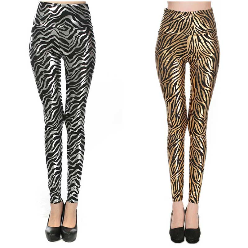 Gold and Silver Pants Women Leggings 2016 New Fashion Girls Leggins Sexy  Zebra Pattern Leggins Spandex - Compare Prices On Gold Leggings- Online Shopping/Buy Low Price