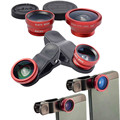3 in 1 Fish Eye Wide Angle Macro Fisheye Lens Lente Olho de Peixe Para For iPhone 4 5 6 Samsung galaxy note 2 3 4 S4 Len Lentes