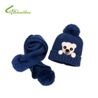 Winter Baby Hat And Scarf Crochet Handmade Knitted Caps For Infant Boys Girls Cartoon Bear Caps