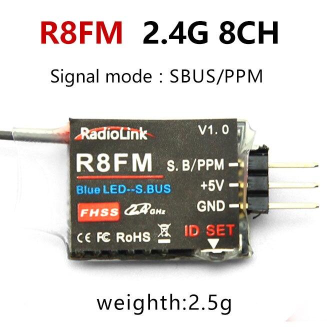 Radiolink R12DSM R12DS R9DS R8FM R6DSM R6DS R6FG Rc приемник 2,4G усилитель сигнала для передатчика радиоуправляемой модели AAT9/AT9S/AT10/AT10II - Цвет: R8FM