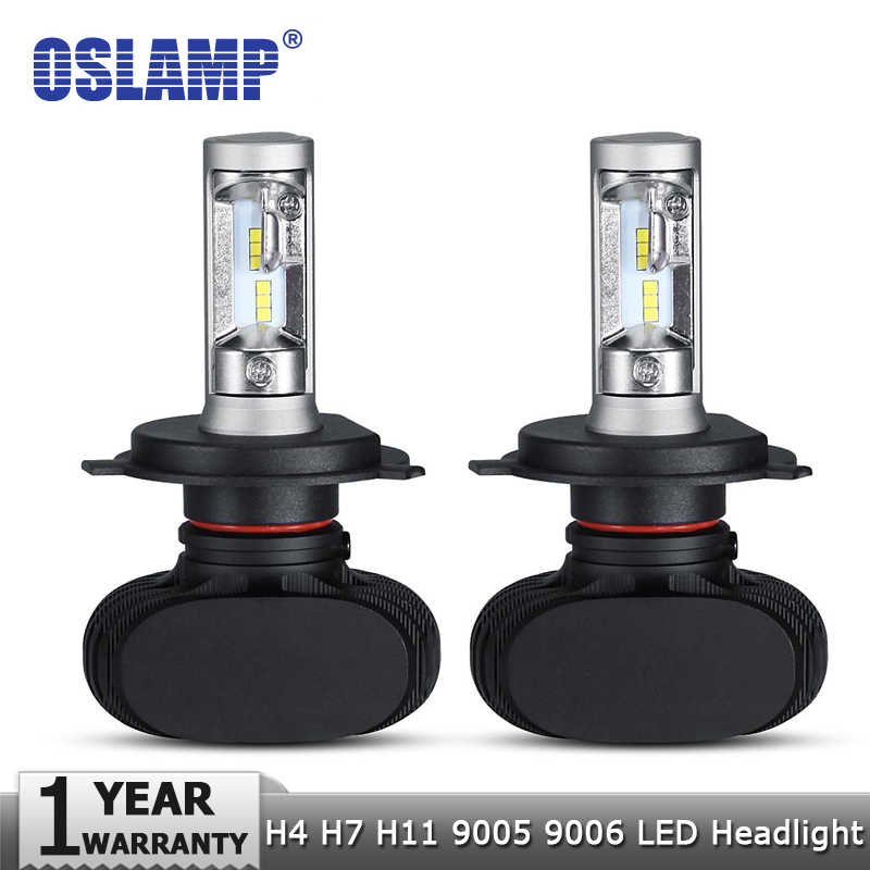 Oslamp H4 Hi lo Car LED Headlight Bulbs H7 H11 9005 9006 50W 8000LM 6500K CSP Led Auto Headlamp LED Lamp Lighting Bulb 12v 24v