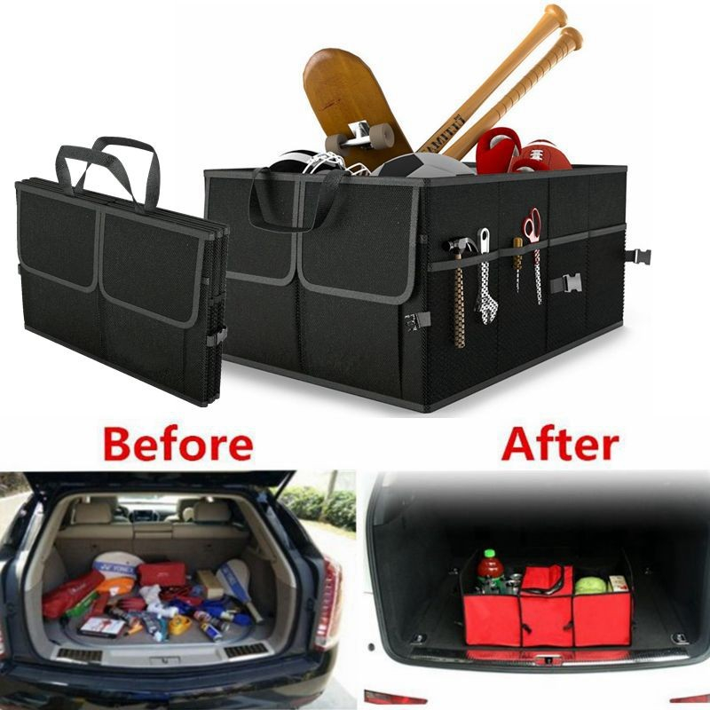 Disney Collapsible Storage Trunk Toy Box Organizer Chest: Car Accessories Trunk Organizer Box Collapsible Black Toy