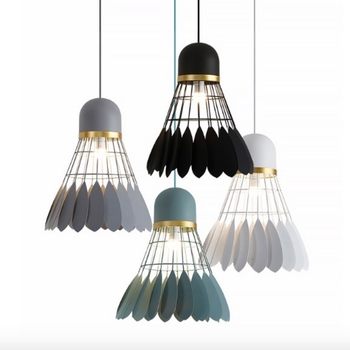 Post-modern Nordic Creative Iron Badminton Pendant Light for Dining Room Bar Restaurant Bedside Deco Lamp Dia 26cm 2170