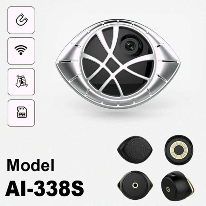 Silver Version Super Mini Portable Magnetic WiFi Security DVR Camera Motion Detection & Magnetic Bracket Universal Installation