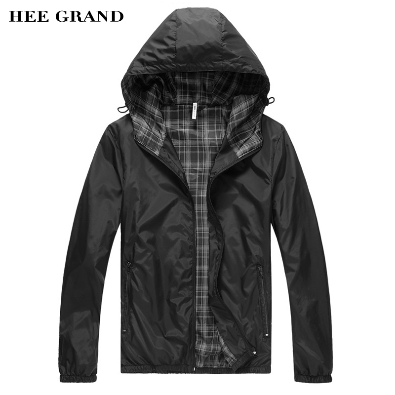 HEE GRAND 2017 New Big Sale Men Jacket Men Hoodie Jacket Waterproof Jacket High Quality Masculino
