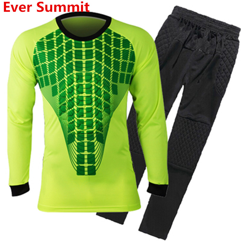 7deebfcf75f Ever Summit Goalkeeper Soccer Jersey Sets Kits Training Porteros ropa  Football Shirts Style 0004 Kids Adult Neuer Customize-in Soccer Sets from  Sports ...