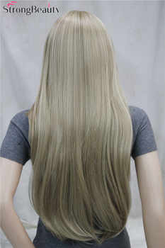 Strong Beauty Synthetic Long Straight Women Wigs Capless Heat Resistant Wig Many Color for Choose