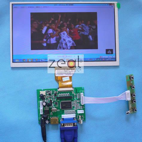 все цены на  HDMI+VGA+2AV LCD Control board+9inch AT090TN10 AT090TN12 800x480 lcd+touch panel+4 Wire Resistive USB Touch Screen Controller  онлайн