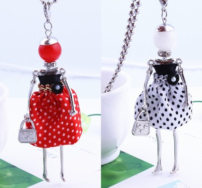 free shipping!French Paris 7 color female doll Necklace Pendant Necklace long beads jewe ...