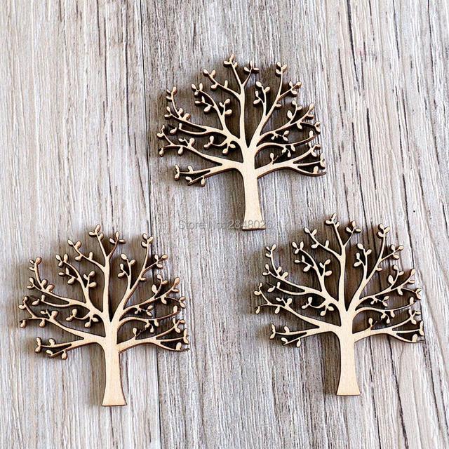 rbol con hojas adornos de madera para artesana adornos de madera