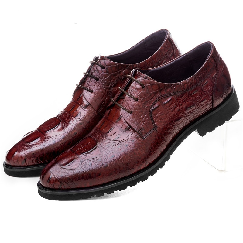 Large size EUR45 Crocodile Grain black / brown tan mens business shoes genuine leather dress shoes mens wedding shoes top quality crocodile grain black oxfords mens dress shoes genuine leather business shoes mens formal wedding shoes