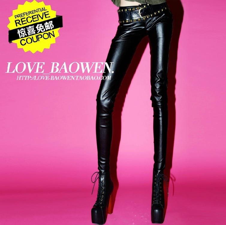Gratis Envío l Negro Cintura Mujeres Baja 2019 Moda ¡nuevo Cremallera De Pantalones Las s Cuero La Lápiz Pantalones qpx5TEw1nv