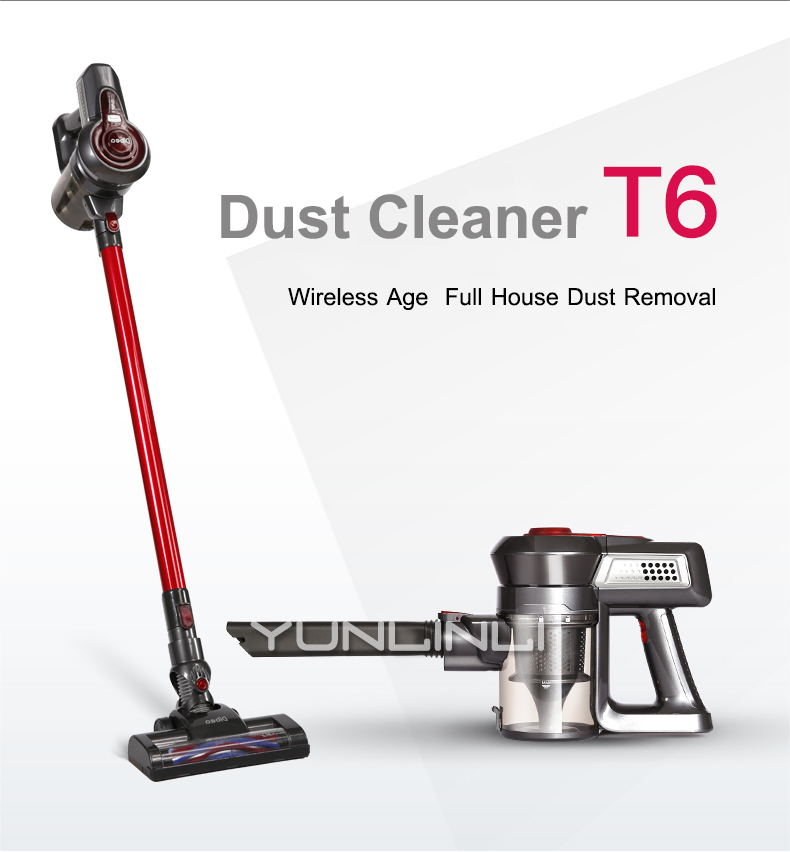 Wireless Vacuum Cleaner Quiet Mini Car Rod Portable Dust Collector Home Aspirator Handheld Cleaning Collector T6