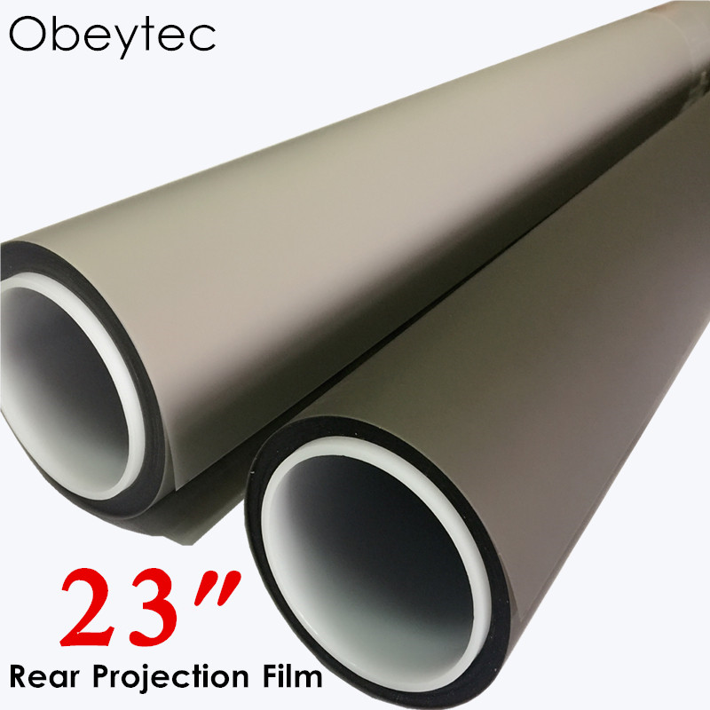 """Obeytec 23"""" Rear Projection Film Sample ( Transparent, Grey, Black,White, Front projection grey)"""