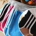 Случайные шорты хлопок Эластичность одежда для пляжа Шорты женские полосой женская одежда KK2014722