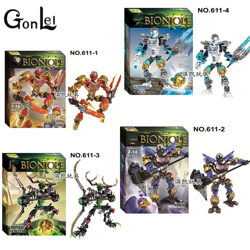 GonLeI BionicleMask of Light XSZ 611-1 Children's Kopaka Master Of ICE Bionicle Building Block Toys Compatible with Lepin master of war volume 1