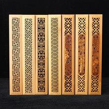 Handmade Incense Sticks Box Bamboo Carving Joss Stick Aroma Hollow Wooden Burner  A