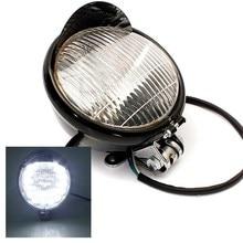 Universal 5 Inch 35W Black 12V Motorcycle Motorbike ATV Front Headlight Head lamp For Harley Chopper