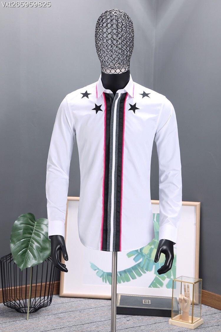Новинка 2018 Высокое качество модные блузки и рубашки взлетно посадочной полосы Лето мужчина бренд Роскошные Мужская одежда A500397