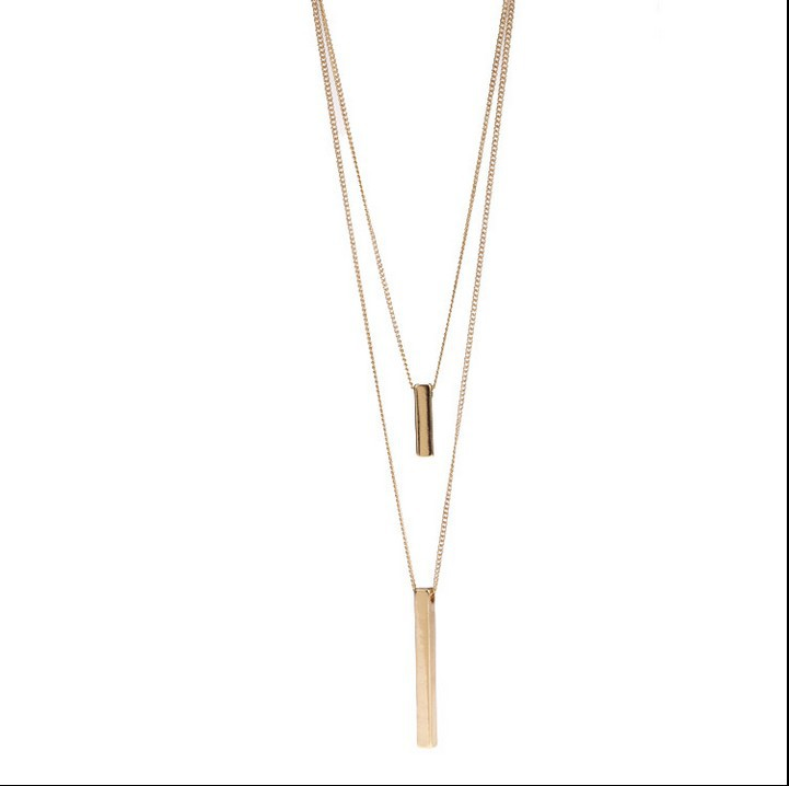 Free shipping hot sale simple gold black chain long necklace multi free shipping hot sale simple gold black chain long necklace multi layer necklace gold necklaces pendants in pendant necklaces from jewelry accessories aloadofball Images