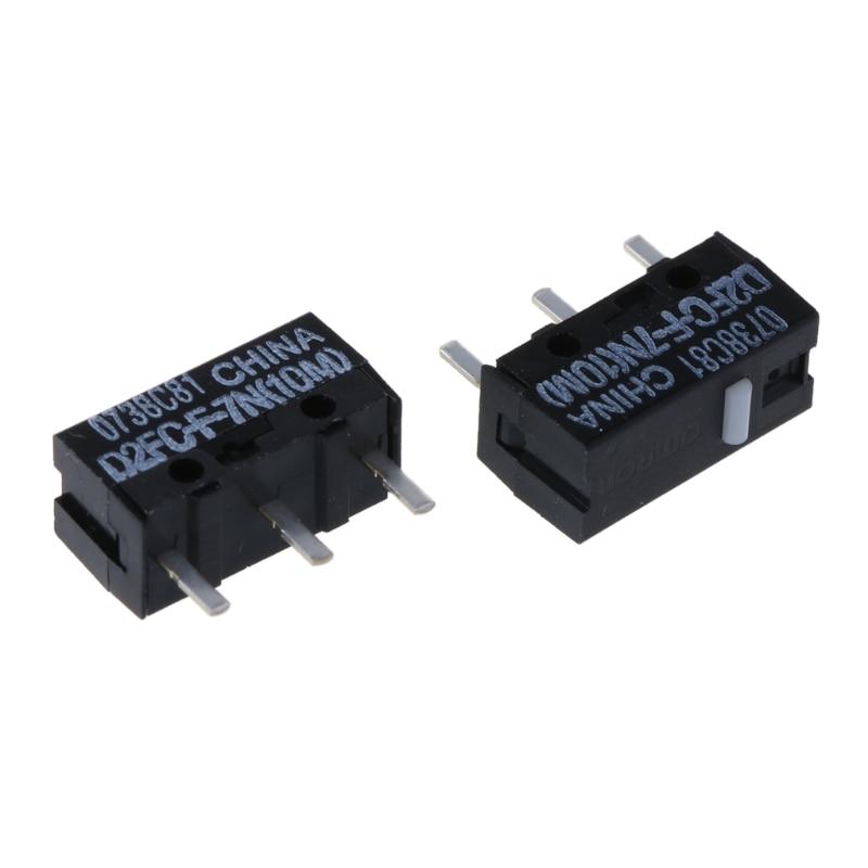2Pcs Original OMRON Mouse Micro Switch D2FC-F-7N 20m for Logitech RAZER