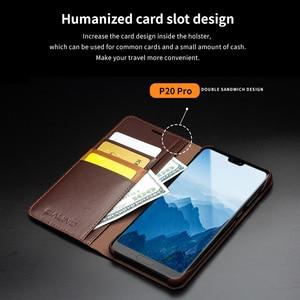 Image 3 - QIALINO funda de teléfono con ranura para tarjetas para Huawei Ascend P20, billetera de cuero genuino de lujo, funda con tapa para Huawei P20 Pro