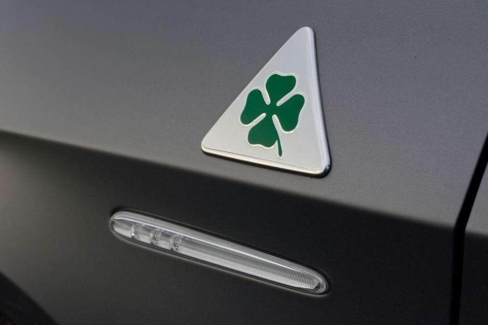 Alfa Romeo quatrefoil green delta Car Side Fender Emblem Badge - Accesorios de interior de coche - foto 6