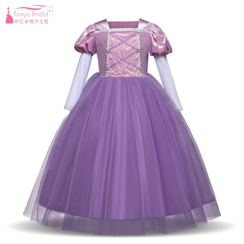 Long Sleeves   Flower     Girl     Dresses   Embroidery 2019 New Style Kids Party   Dress   Gown Pageant   Dresses   For   Girls   JQ208