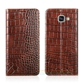 Crocodile grain genuine leather case para samsung galaxy a5 2017 A520 A520F Telefone Luxury Capa & Ímã Invisível 1 Cartão Slot