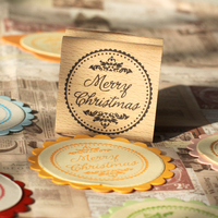 Merry Christmas Stamp 5 5cm Tinta Sellos Craft Wooden Rubber Stamps For Scrapbooking Carimbo Timbri Stempel